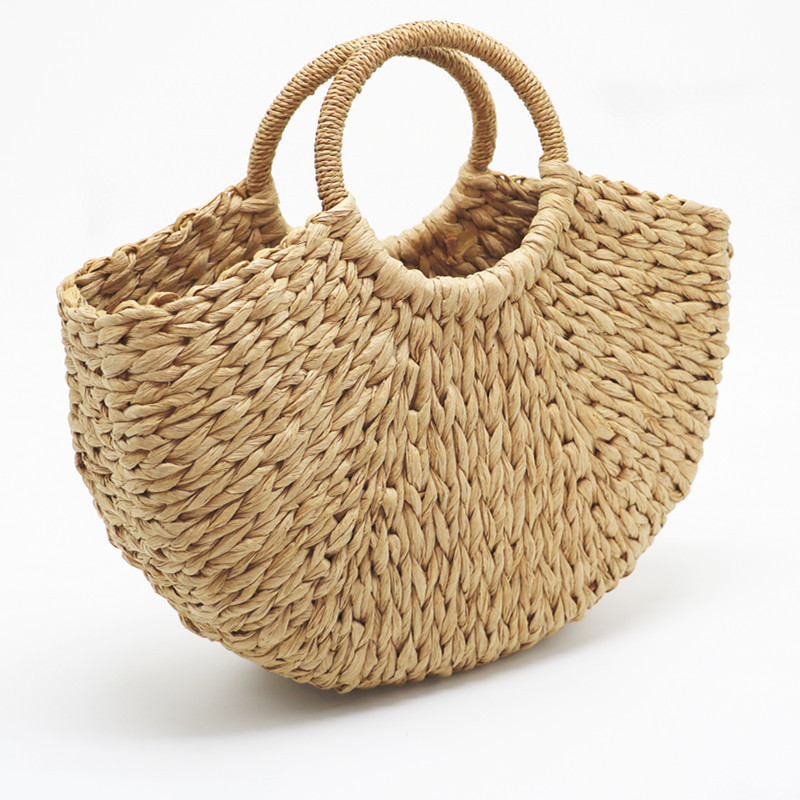 HTB1tZYegaAoBKNjSZSyq6yHAVXak - Beach Handmade Style Straw Handbag