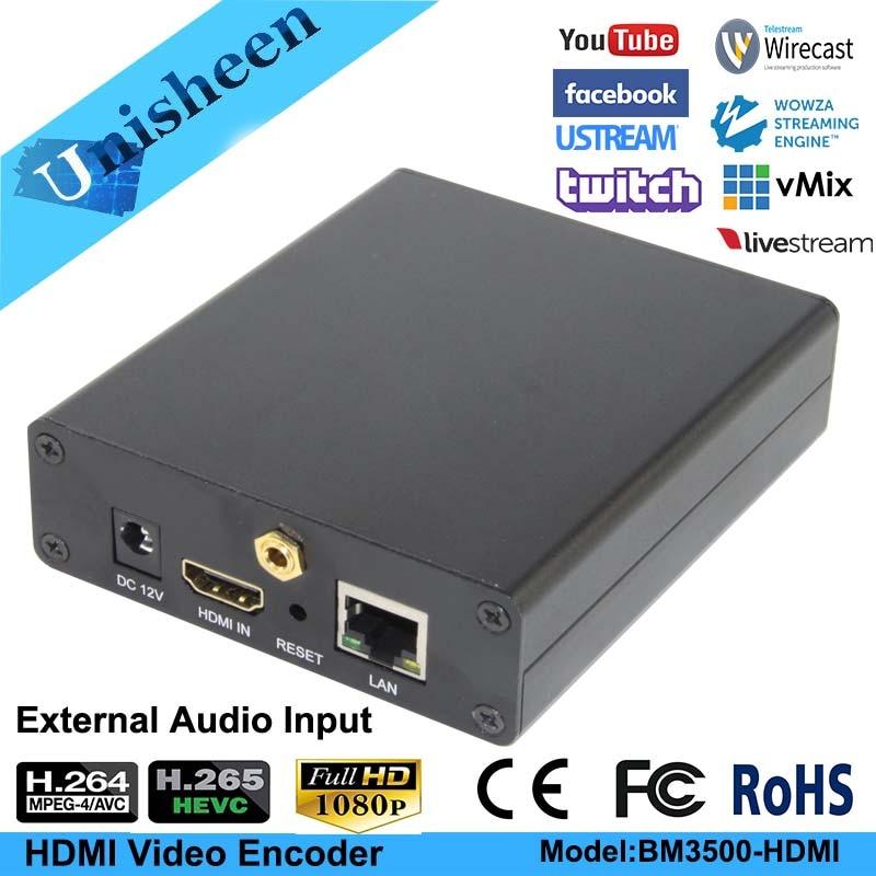 Unisheen H 265 H 264 IPTV HDMI Audio Video Encoder Live Stream Broadcast works with wowza