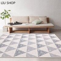 Европейский стиль серый цвет полоса области ковры для спальни коврик нескользящий пол ковер супер мягкий декоративный антистат ковер для г...