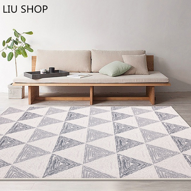 Tovar European Style Grey Color Stripe Area Rugs Bedroom Mat Non