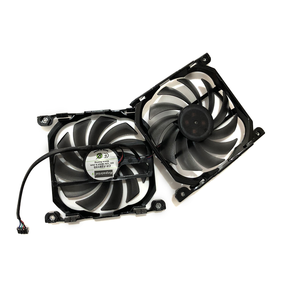 2pcs/set Inno GTX 1070/1070TI GPU VGA Card Cooler Cooling Fan Replacement For INNO3D GEFORCE GTX 1070TI GTX1070 X2 V2 Graphics цена