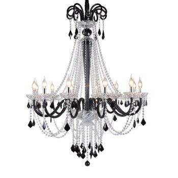 Nowoczesny kryształowy Lustre szklane Hotel Decor wiszące Świecznik