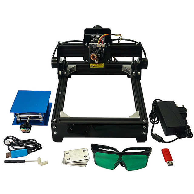 10W Laser Engraver Metal  Marking Machine CNC Router With 140*200mm Engraving Area for Stainless Steel, Aluminum
