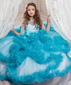 Image 4 - Mới Trẻ Em Trang Dạ hội sinh nhật costum bầu trẻ em dạ hội rước lễ lần đầu Đầm Dành cho bé gái
