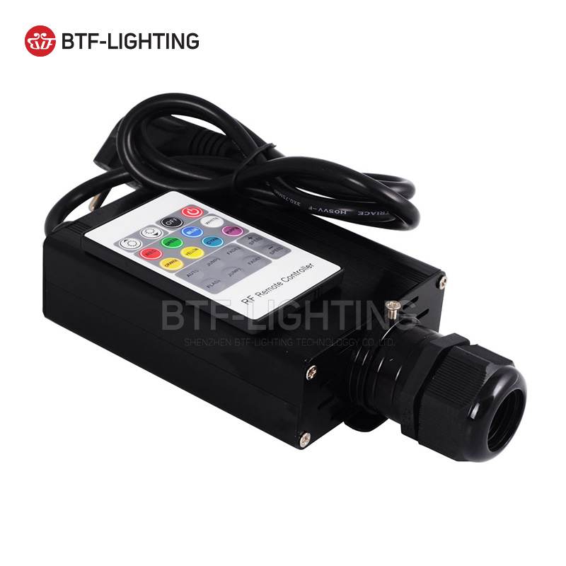 RGB 16W LED Fiber Optic Engine Driver with 20key RF Remote Controller For All Kinds Fiber Optics rgb 45w led fiber optic engine 20key rf remote controller can be fixed in 8 colors six color change mode with flicker effect