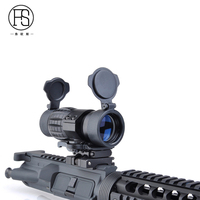 Tactical 3X Magnifier Scope Sight With Flip To Side Mount For 20mm Rail Riflescope Hunting Free