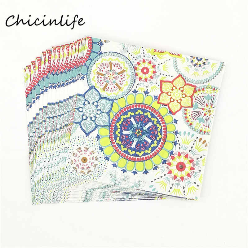 Chicinlife 20pcs/lot Party Supplies Paper Napkin Table Supplies Party Favor Kids Birthday Wedding Decoration Tissue Decoupage