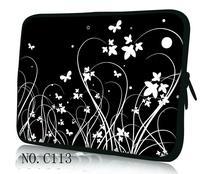 Hot Black Flower Laptop Soft Sleeve Bag Case Pouch For 9 7 10 1 11 6