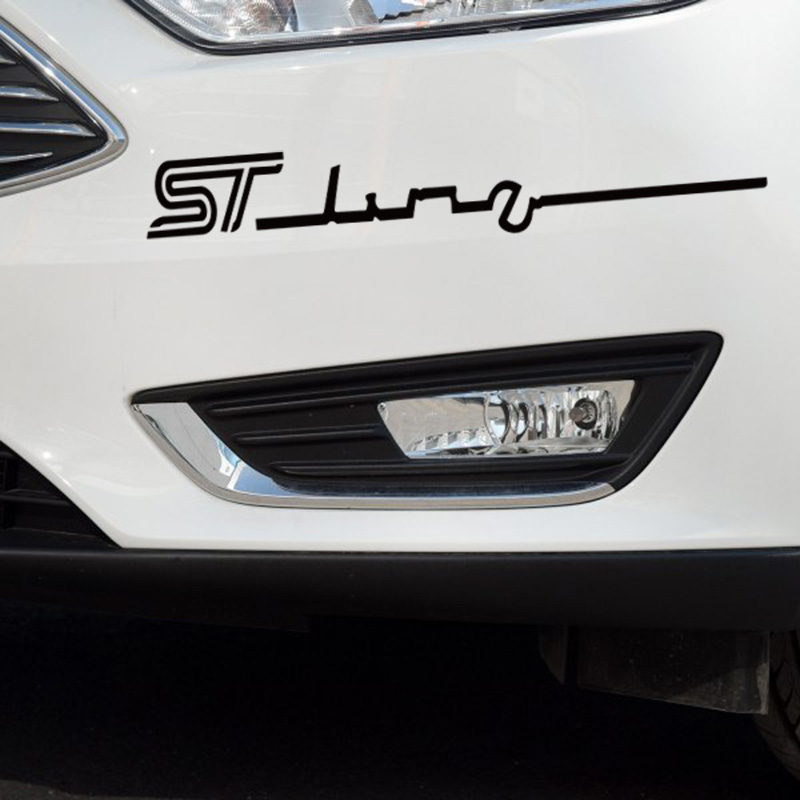 ST style sportive styling stickers and decals on car bumper windows die cut vinyl labels for /ford fiesta/mondeo/focus