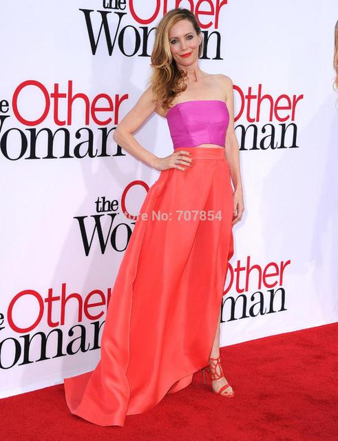 2014 Leslie Mann Two Piece Hi Slit Colorful Prom Dress at The Other ...