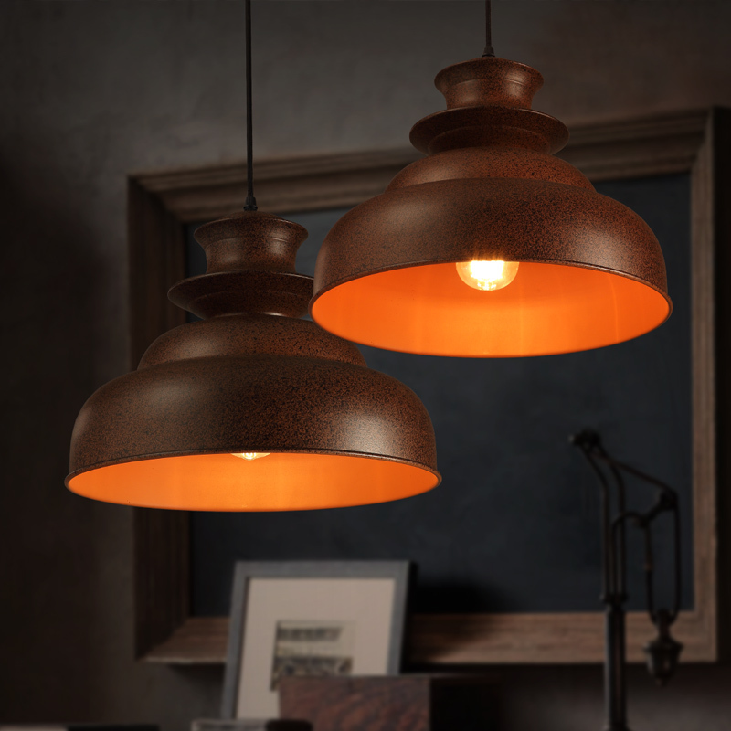 Vintage Loft Industrial Edison Village Wrought Iron Pot Tower Rusty Pendant Ceiling Lamp Droplight Coffee Shop Hall Cafe Bar vintage edison chandelier rusty lampshade american industrial retro iron pendant lights cafe bar clothing store ceiling lamp
