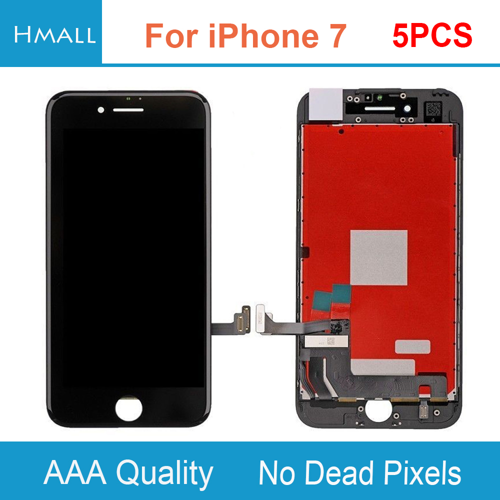 5PCS For iPhone 7 LCD Display with Touch Screen Digitizer Assembly Replacement for iPhone7 Grade AAA No Dead Pixels DHL Free