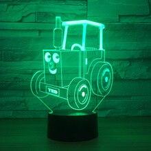 3D светодиодный мультфильм модель сельскохозяйственных транспортных средств Творческий Игрушечные лошадки интерьера модель с светодиодный кулон подарок коллекций