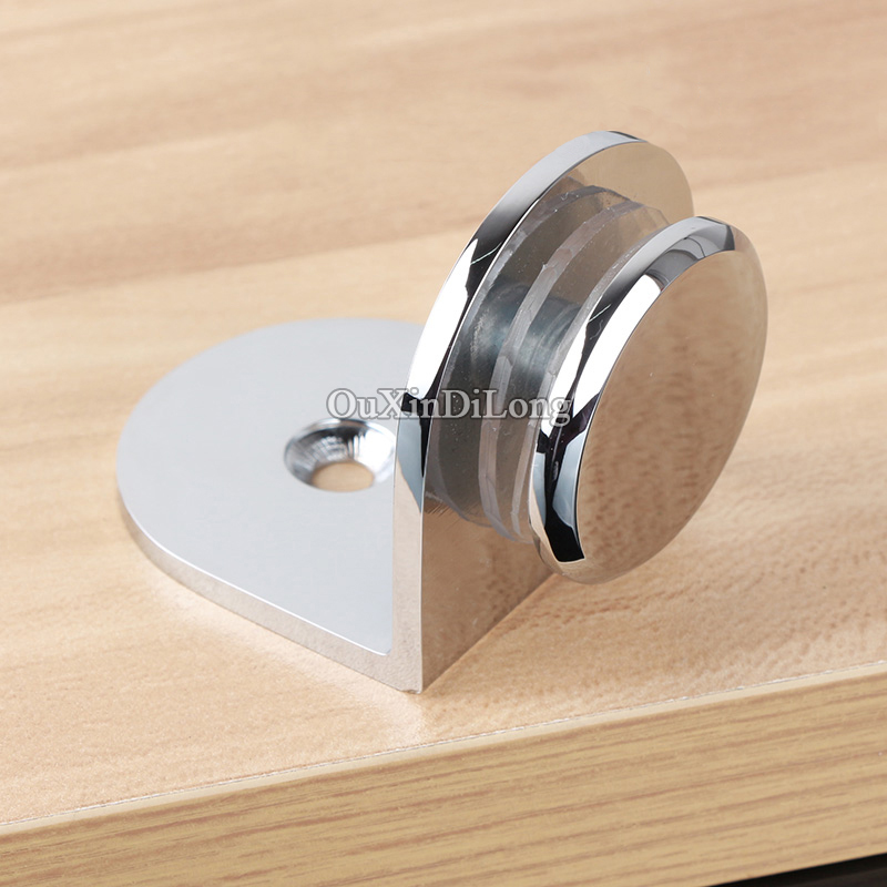 Top Designed 8PCS Brass Shower Glass Clamps Clips 90 Degree Wall to Glass to Fixed Holder Brackets Connectors for 6~12mm Glass 8pcs round shelves support brackets clamps clips for 4 6mm glass wooden acrylic adjustable screw fix for wood glass acrylic