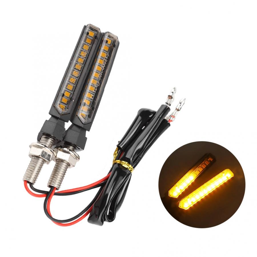 2pcs 12V Universal Motorcycle Flowing Water 12LED Turn Signal Light Indicator Flashing Lamp motorsiklet aksesuarlari
