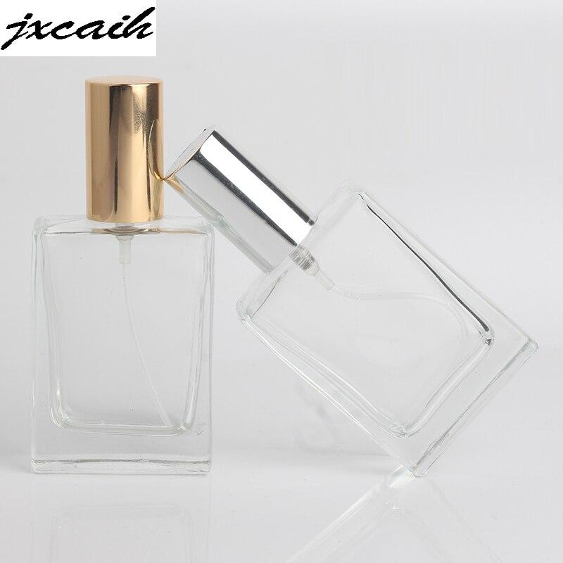 Hot 1 Piece 30ML Portable Transparent Glass Perfume Bottle With Aluminum Atomizer Empty