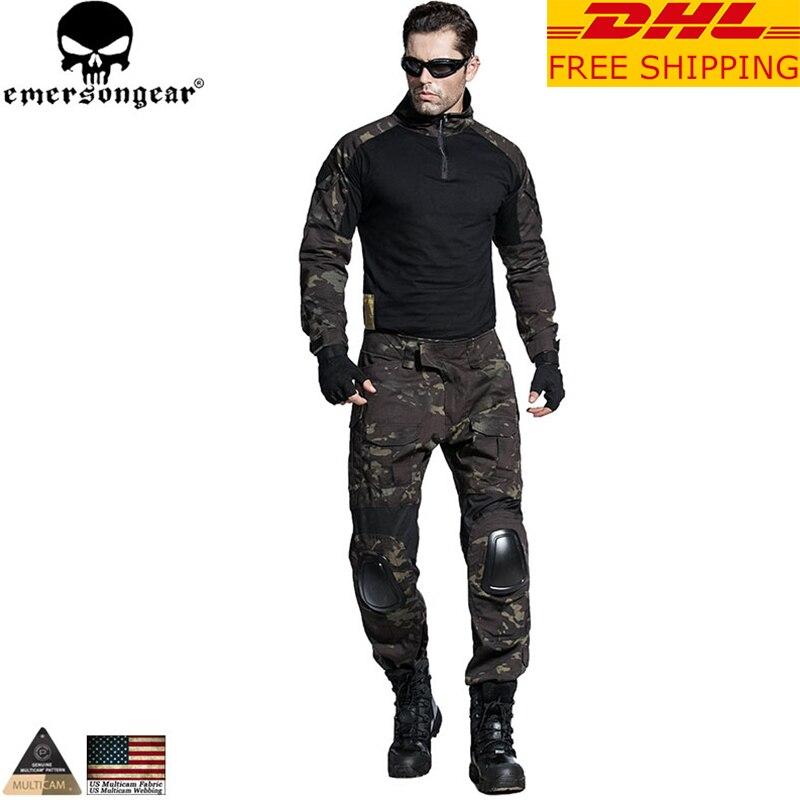 EMERSONGEAR Gen2 BDU Tactical Uniform Combat Shirt Pants with Elbow Knee Pads Military Hunting Clothes Multicam Black EM6971 велосипед dewolf trx 300 2017