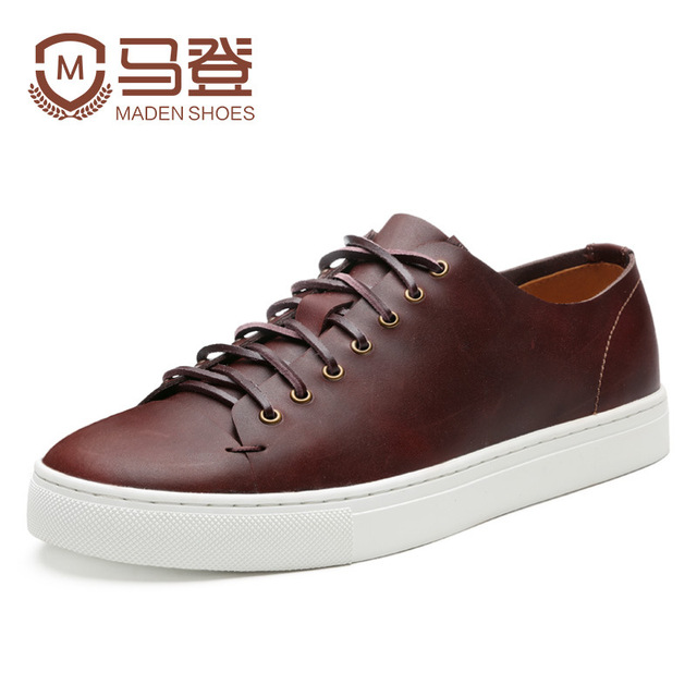 Hot High Quality Brand Men male Small White Shoes Fashion able Youth Tide Casual Shoes Leather International British Retro Shoes