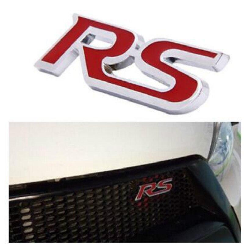 car the RS logo Fashion styling car goods for Cadillac ATS-L XTS CT6 Plug-in XT5 ESCALADE FOR AUDI BMW E46 KIA TOYOTA STICKER