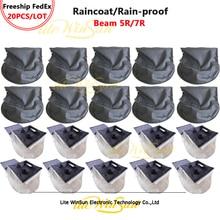 Litewinsune Бесплатная доставка FedEx 20 шт. сценический луч света 7R дождевик Sharpy 5R R7 защита от дождя капюшон наружная Производительность Водонепрон...