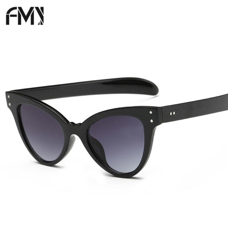 FMY Brand Designer Cat Eye Sunglasses Women Fashion Vintage Ladies Mirror Cateye Sun Glasses Shopping UV400 Eyewear 6203