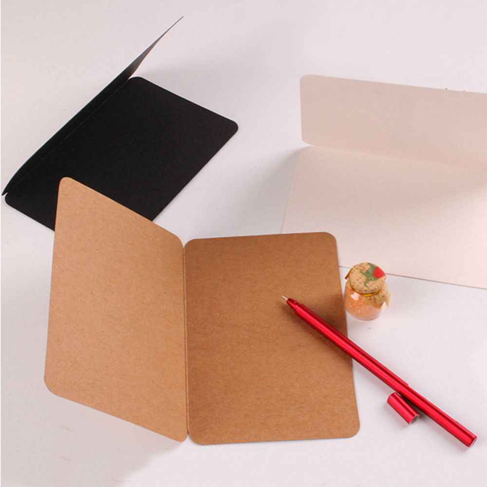 High Quality Personalized Festival Supplies Office Blank Greeting Mini DIY Vintage Kraft Paper Gift Craft Message Note Cards