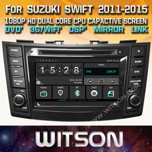 WITSON CAR DVD GPS For SUZUKI SWIFT 2011-2012 with Capctive Screen 1080P DSP WiFi/3G/DVR(optional) Good Price+Free shipping