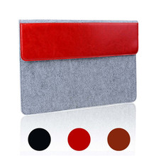 Brand New Smart pu leather and Wool Felt Sleeve Case Cover Bag for Apple For Macbook 13.3 inch laptop tablet