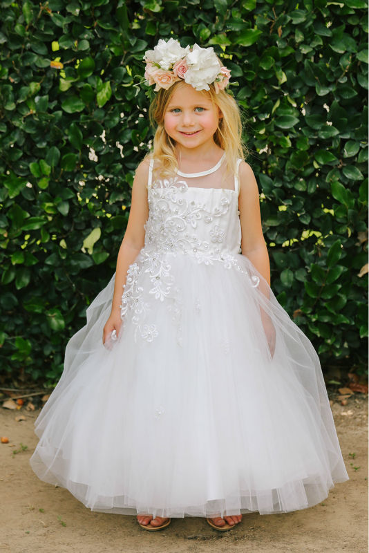 цена на Ankle-Length First Communion Dresses for Girls A-Line Flower Girls Dresses For Wedding Gowns Long Mother Daughter Dresses