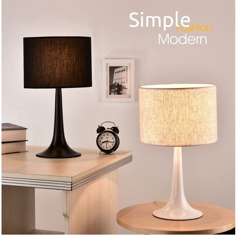 Creative fashion bedside table lamp bedroom modern brief for Modern living room lamps