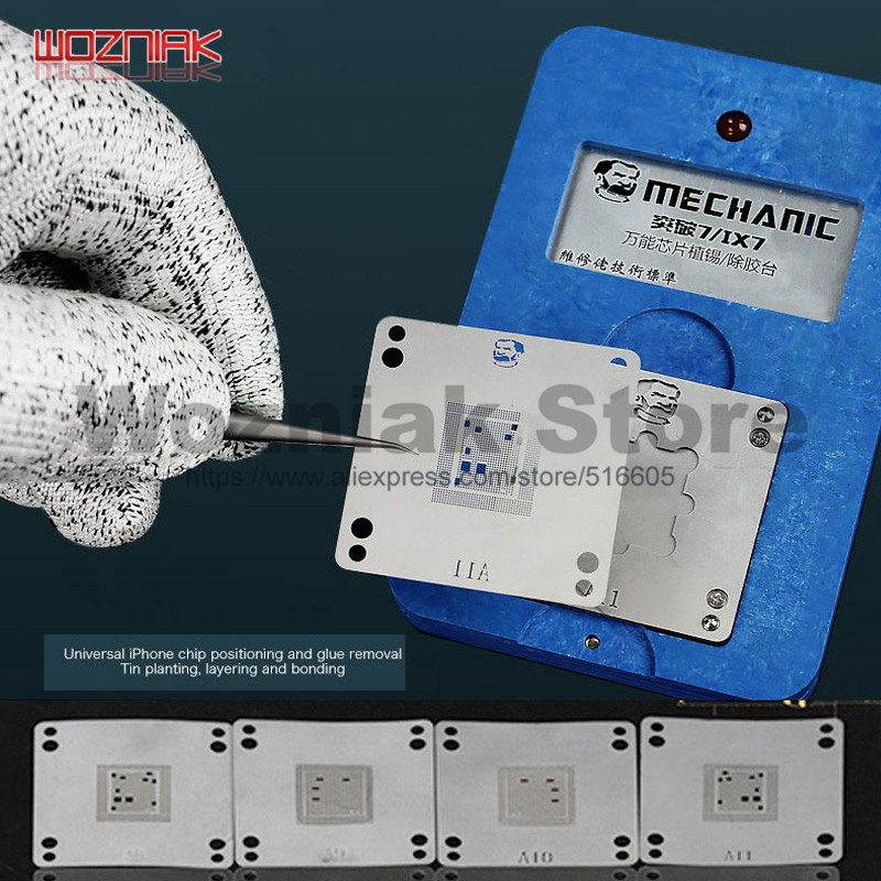 MECHANIC Multi-functional A8 A9 A10 A11 A12 Mainboard CPU IC Chip Glue Removal Layering And Bonding BGA Reballing Platform Ix7