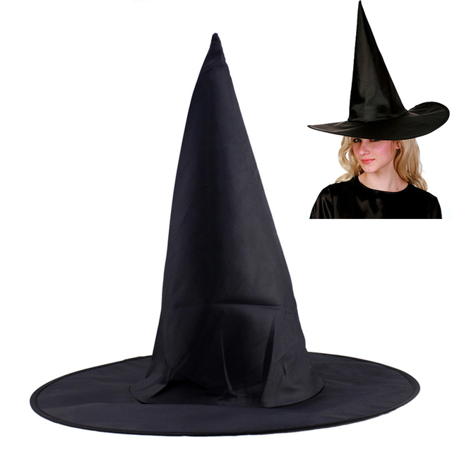 Oxford Cloth Steeple Hat Magic Hat Halloween Witch Hat Wizard's Hats Party Cosplay Costune Supplies  88 Q88 XH8Z