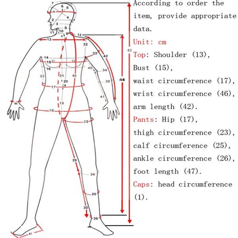 Latex hommes taille rouge et noir taille haute pantalon serré avec chaussettes collants pièce costume taille XXS-XXL - 4