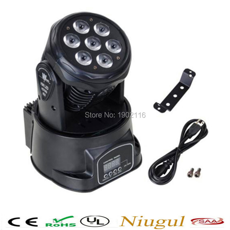 цены на  Best quality 7x12W RGBW 4in1 DMX Effect stage LED Moving Head Light/LED wash beam/ DJ Club Disco Stage Party Lighting/led lamps