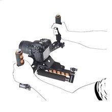 RL01 kits de equipos de vídeo 5D2 5DII DSLR cámara slr dslr kit de la película del montaje del hombro rig jaula set grip estabilizador steadicam steadycam