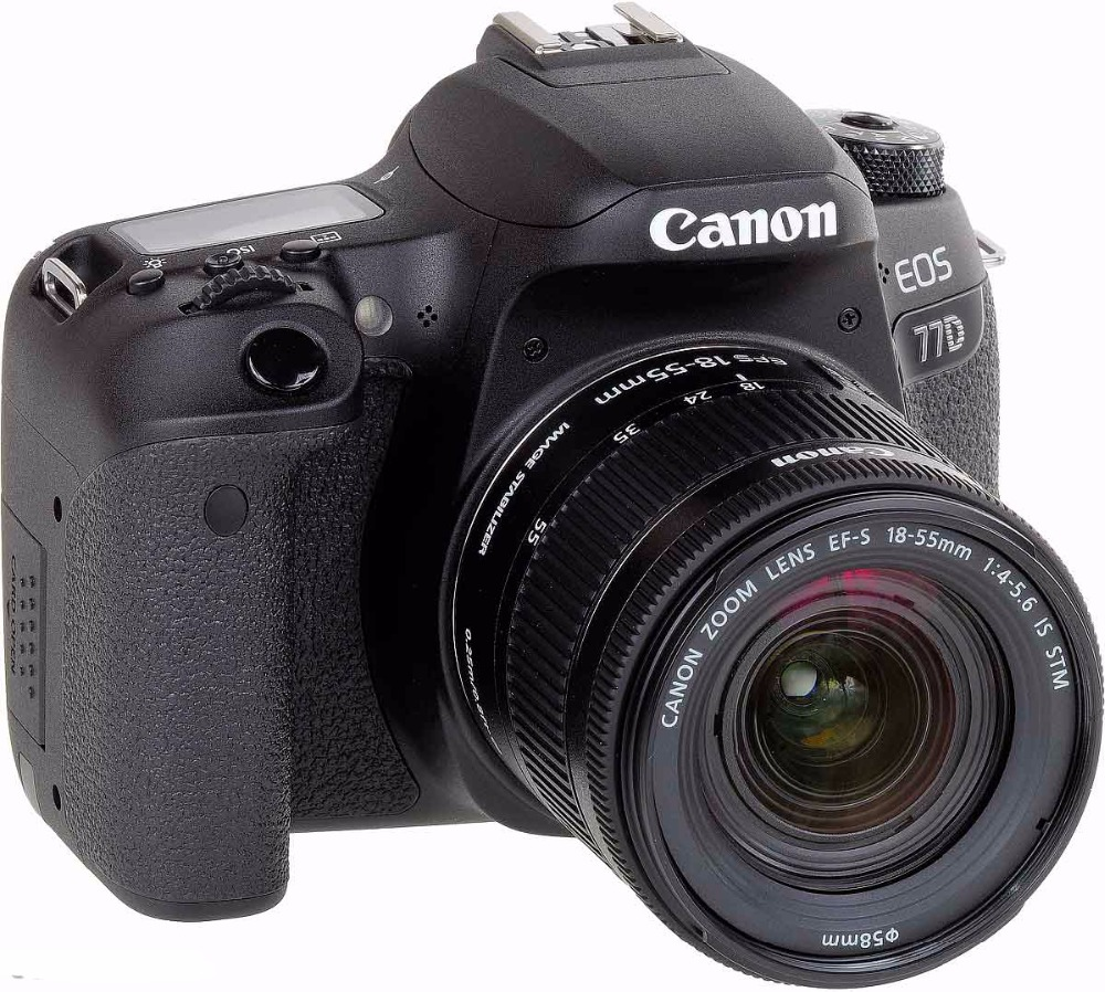 Canon EOS 77D DSLR Camera body with 18 55mm Lens