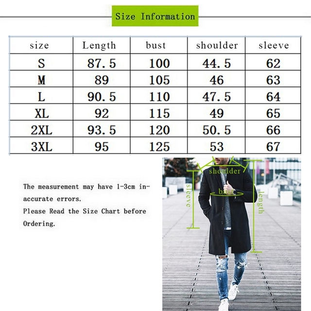 MJARTORIA 2019 Men Trench Coat Winter Slim Pea Wool Coat Male Leisure Long Sections Coats Soild Color Casual Fashion Overcoats