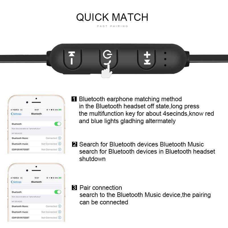 XT11 przyciąganie magnetyczne słuchawki Bluetooth sportowy zestaw słuchawkowy Fone de ouvido dla iPhone Samsung Xiaomi Ecouteur Auriculares VS S530