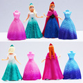 Elsa Anna Figures Transform clothes toy baby toy conversion doll transformation toys
