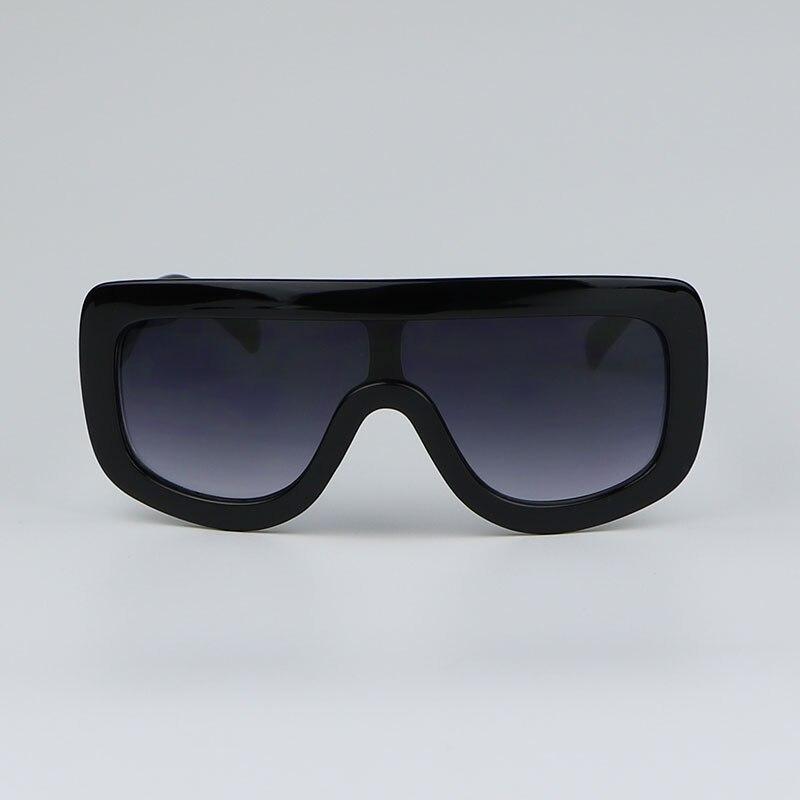c4ebdc9b51ce7 Preto de grandes dimensões Óculos De Sol Mulheres marca de designer de Moda Retro  Óculos de Sol Para senhoras Feminino 2017 oculos de sol feminino