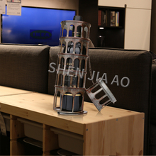 Wine-Rack Decoration Living-Room Bar Iron Metal 1PC Tower-Type Leaning