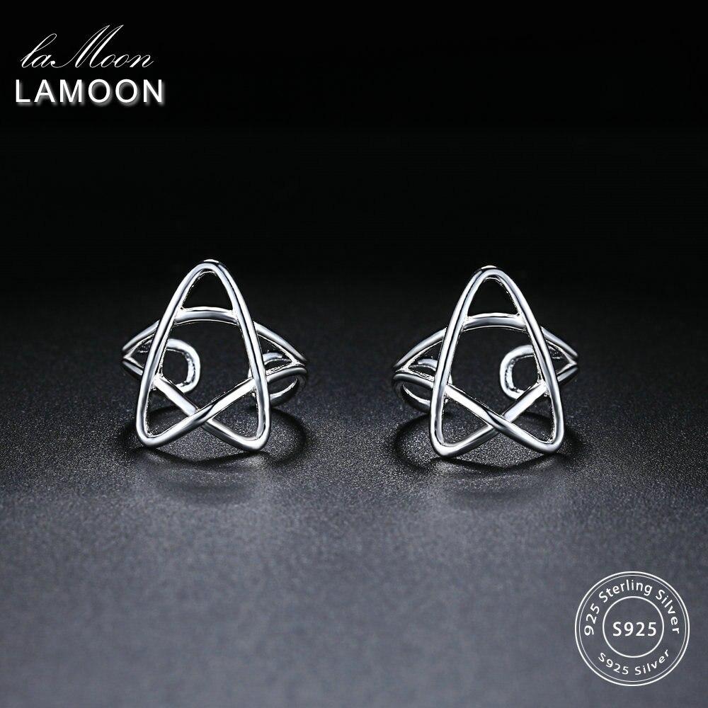 LAMOON 2017 New Little Stars Shape 100% 925-Sterling-Silver Clip Earrings Fine Jewelry/Jewellery For Women Girl Gift LMEY238