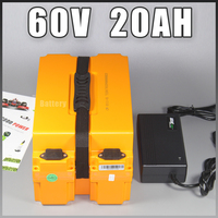 60V Scooter Electric Motorcycle Electric Bicycle Battery 60V 20AH Li Iom Battery 60V 1000W Lithium Battery