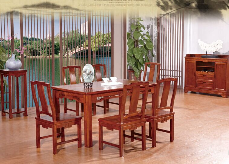 Newest Wholesale China Classic Style Dining Room Sets Furniture Table And  Chairs L501(China)
