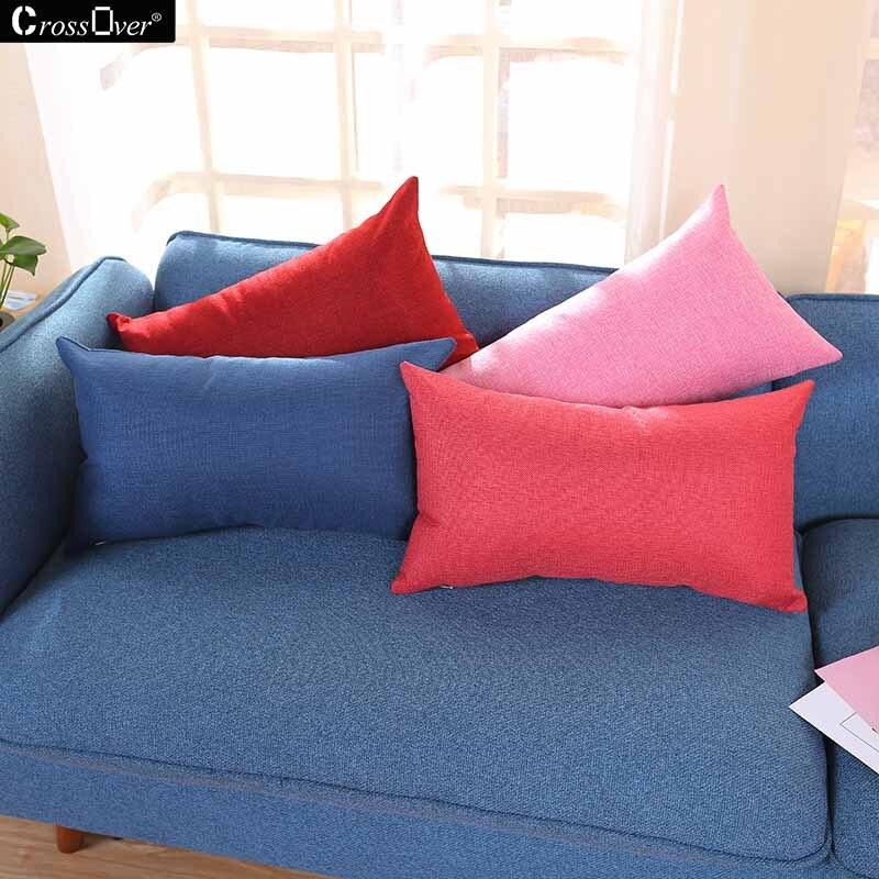 Cuscini Rettangolari Per Divani.Rettangolare Geometrica Cuscino Cotone Lino Cuscino Decorativo