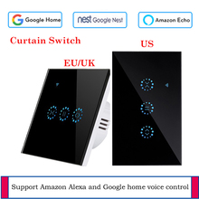 EU/US Standard smart curtain motor Electrical Blinds WiFi Switch Touch APP Voice Control by Alexa Echo Google Home AC 110 V 220V