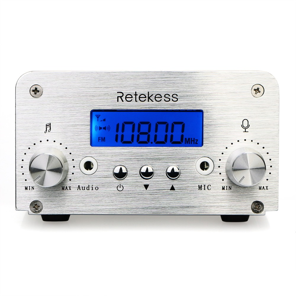 RETEKESS TR501 PLL FM Transmitter 1W/6W Stereo FM Radio Broadcast Transmitter Station For Conference Teaching Outdoor Training
