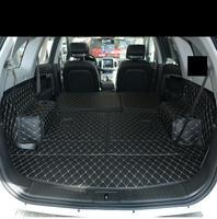 fiber leather car trunk mat for chevrolet captiva Daewoo Winstorm holden 2006 2017 2016 2015 2014 2013 2012 car accessories