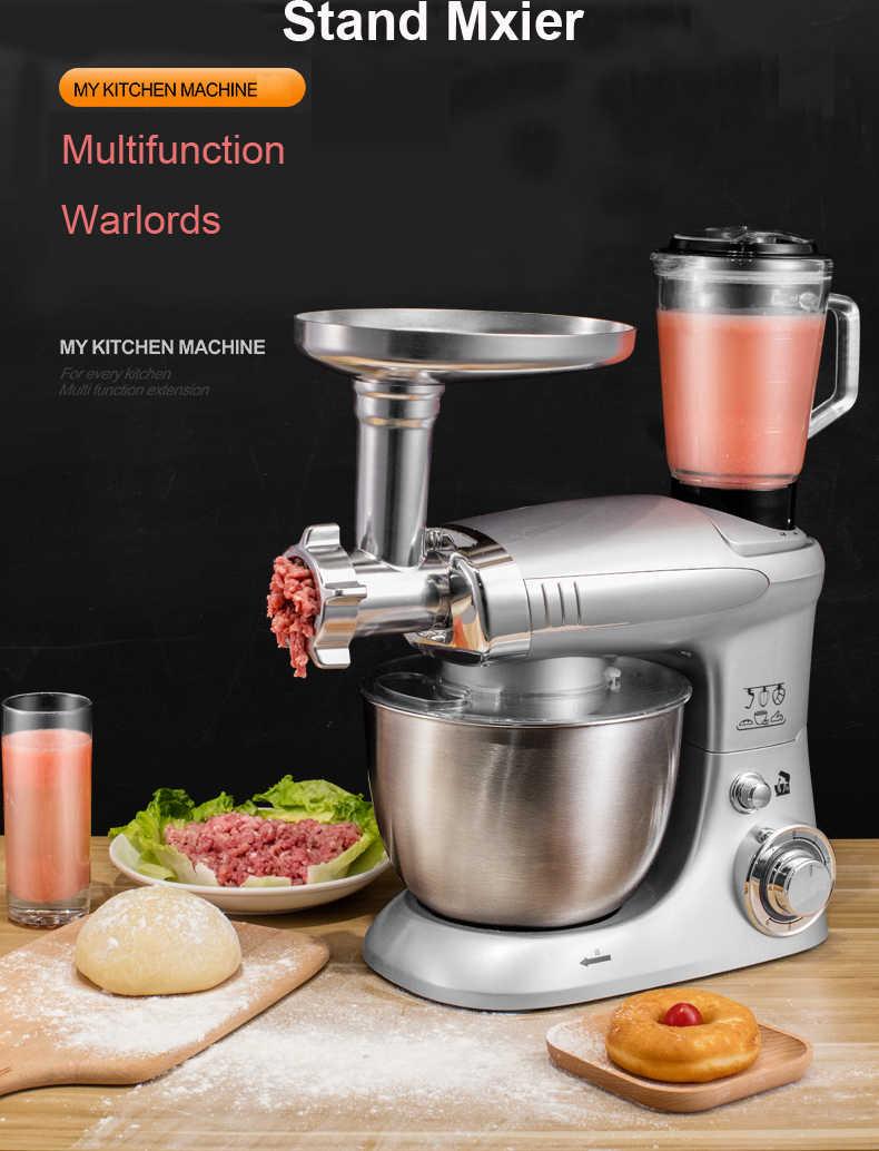 Mezclador eléctrico de cocina de 4L de 6 velocidades batidor de masa de pastel mezclador de pan