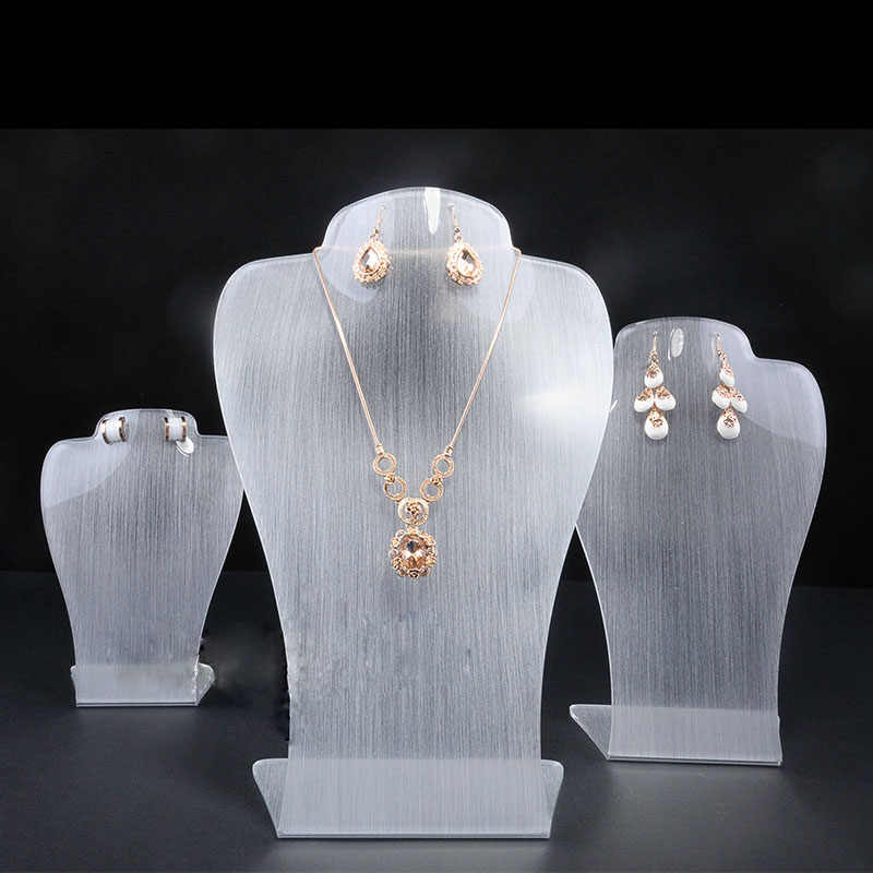 lot of 3pcs Froster Acrylic Pendant Display holder frosted necklace display holder earrings&pendant display stand